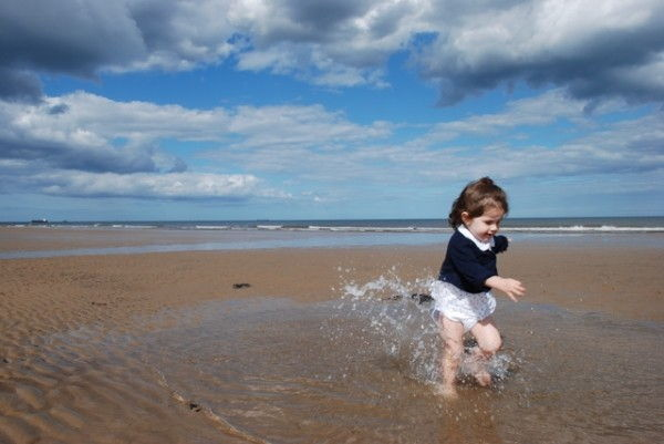 На море с грудным ребенком