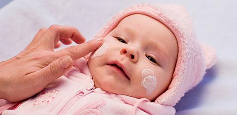 крем для защиты лица новорожденного