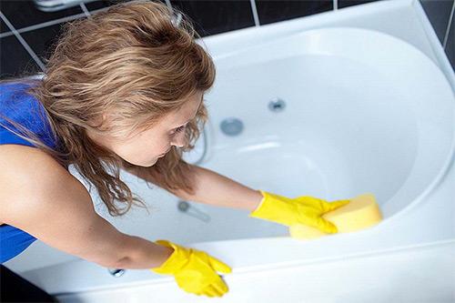 чистка ванной
