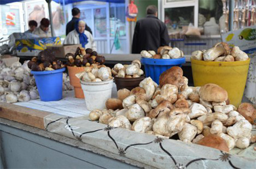 грибы на рынке