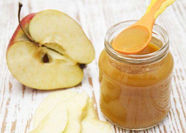 яблочное пюре в банке