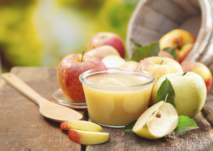 свежее яблочное пюре