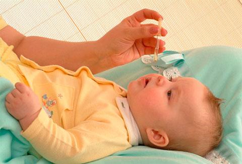 закапывание носика малышу