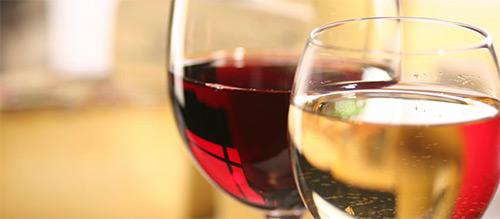 вино красное и белое