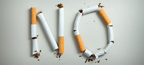 надпись нет сигаретами