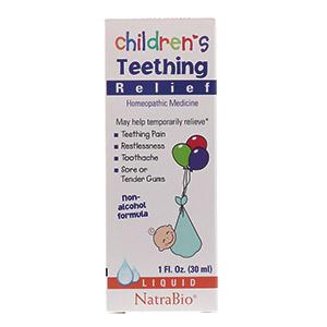 Средство для снятия боли при прорезывании зубов у детей, без спирта от компании NatraBio